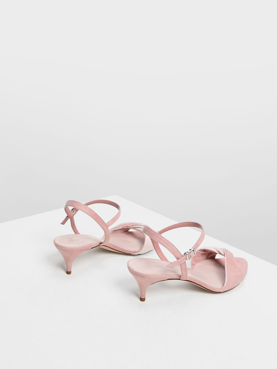 Twist Detail Kitten Heels, Blush, hi-res