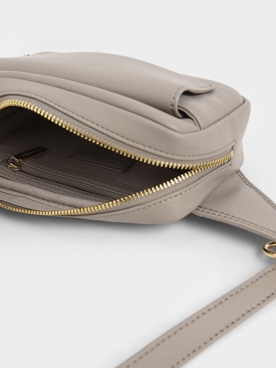 Quilted Rectangular Belt Bag, Sand, hi-res