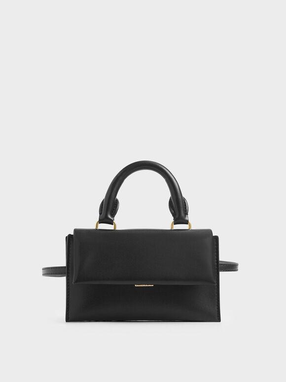 Rectangular Belt Bag, Black, hi-res
