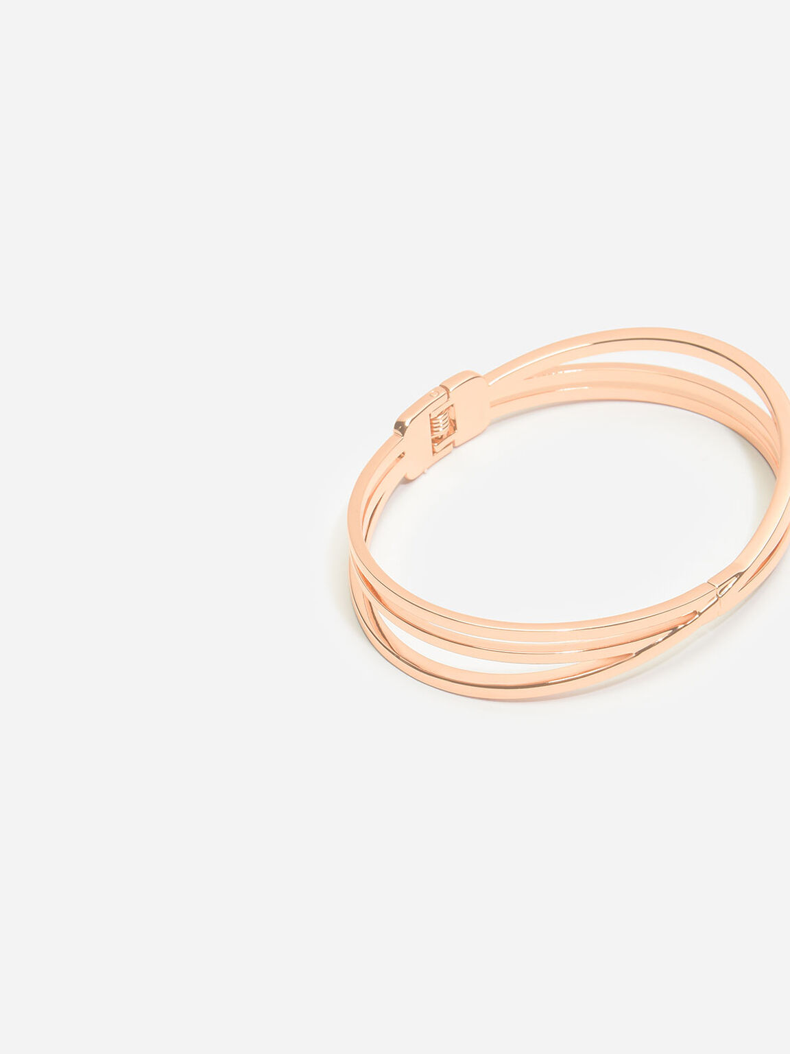 Criss Cross Bangle, Rose Gold, hi-res