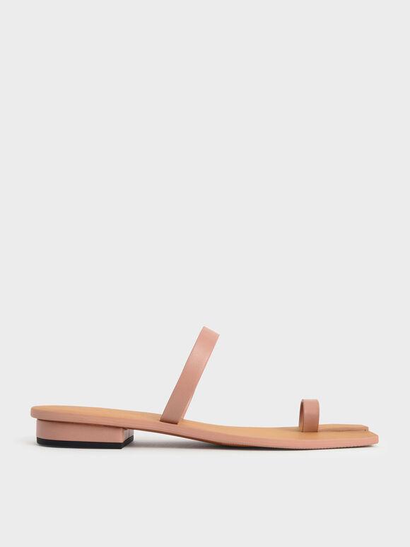 Toe Ring Flat Sandals, Blush, hi-res