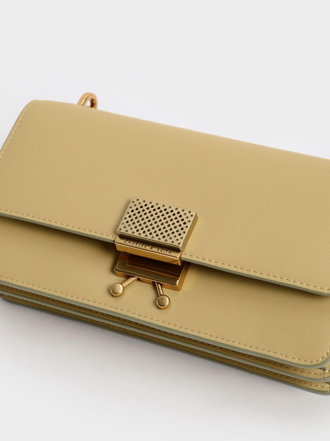 Twist Top Handle Long Wallet, Sand, hi-res