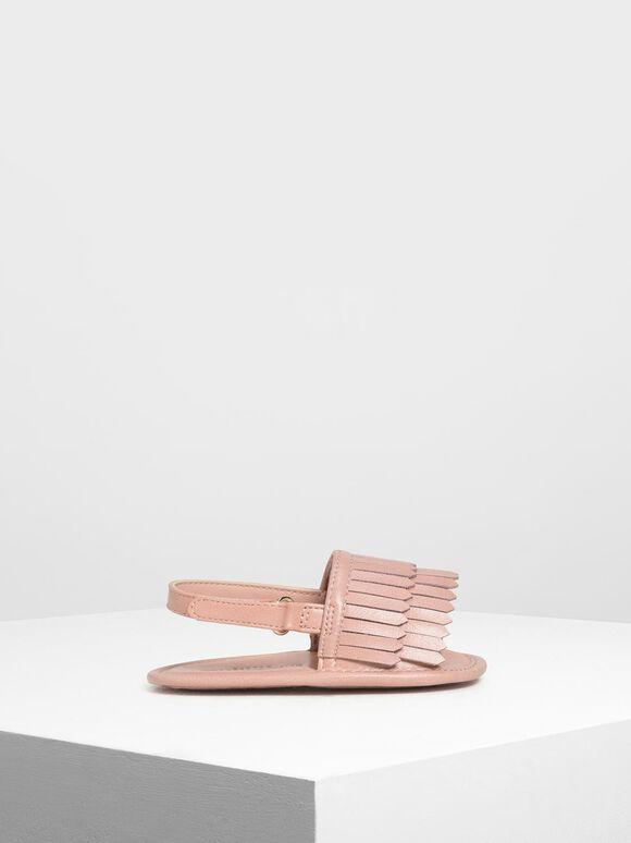 兒童流蘇涼鞋, 嫩粉色, hi-res