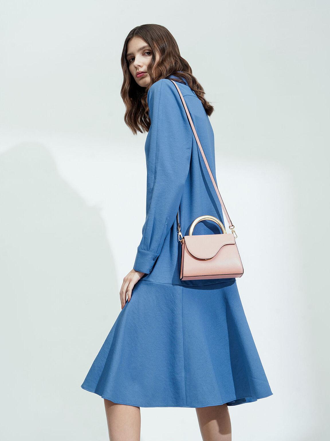 小型金屬手提包, 粉紅色, hi-res