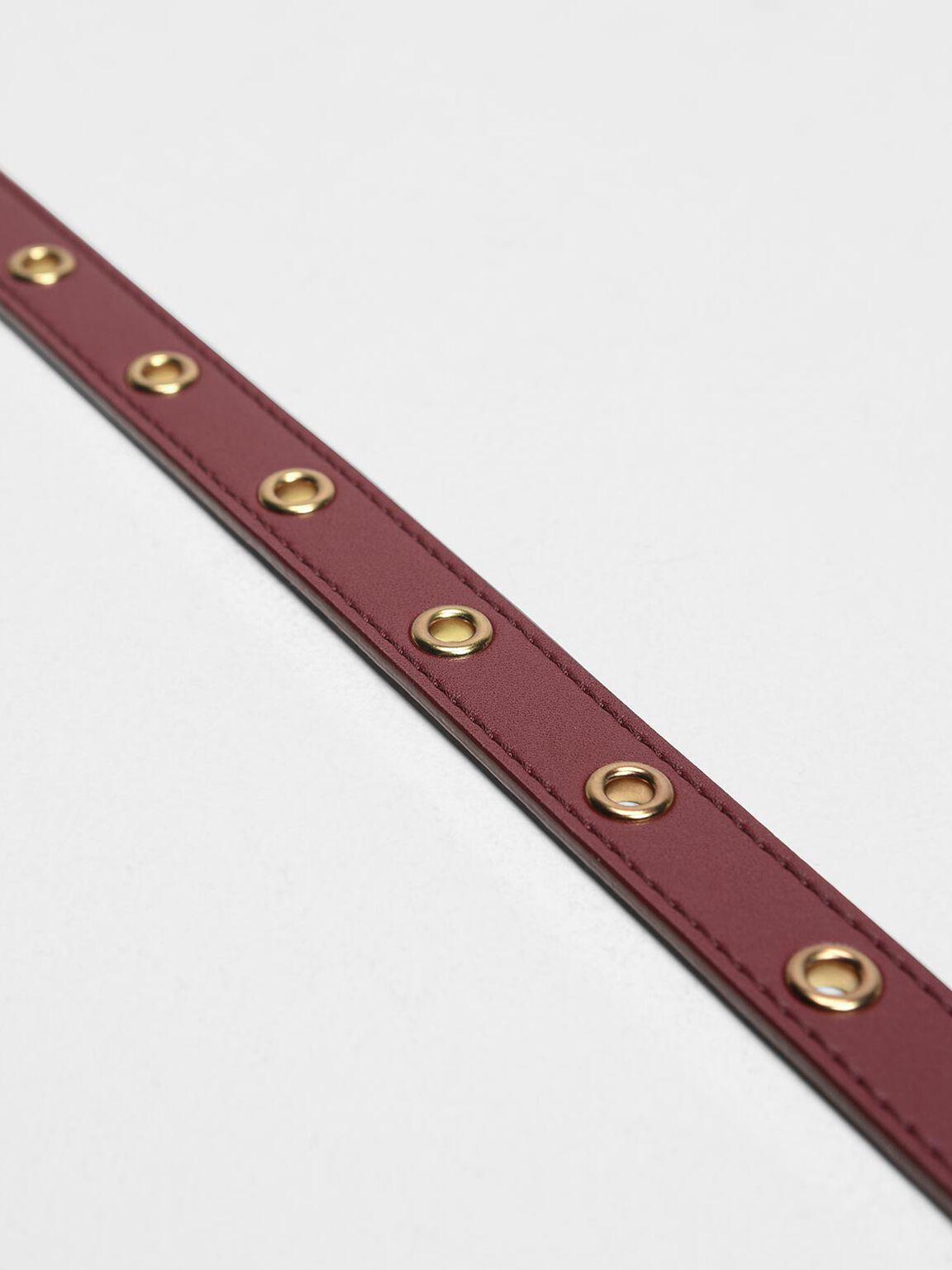 Grommet Belt, Prune, hi-res
