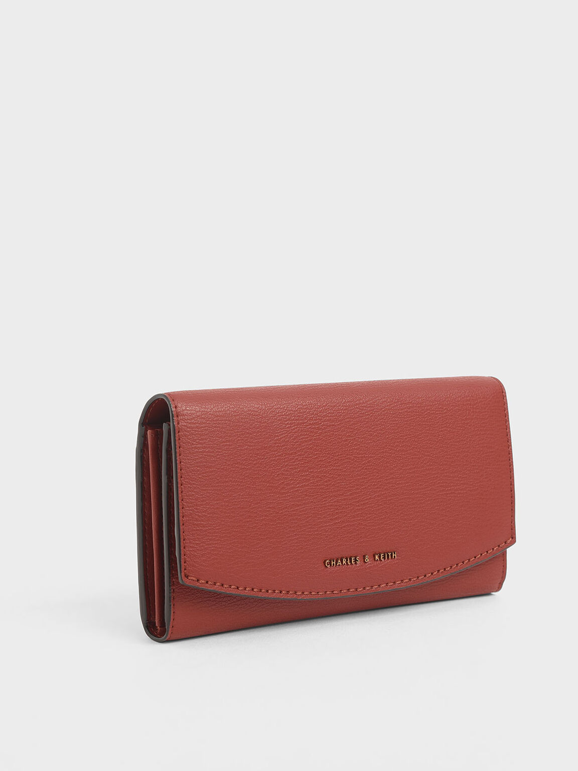 Mini Front Flap Long Wallet, Clay, hi-res