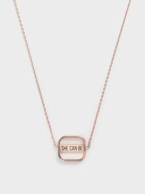 She Can Be Necklace, Rose Gold