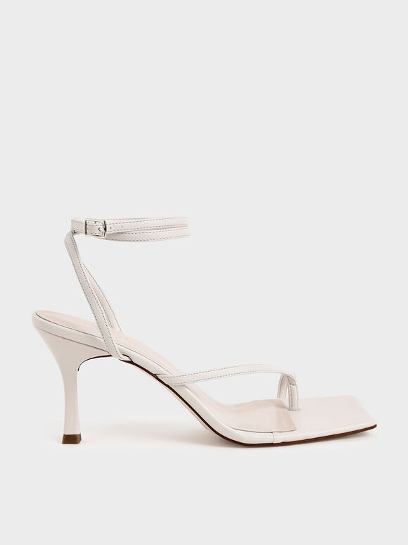 Toe Ring Heeled Sandals, Chalk, hi-res