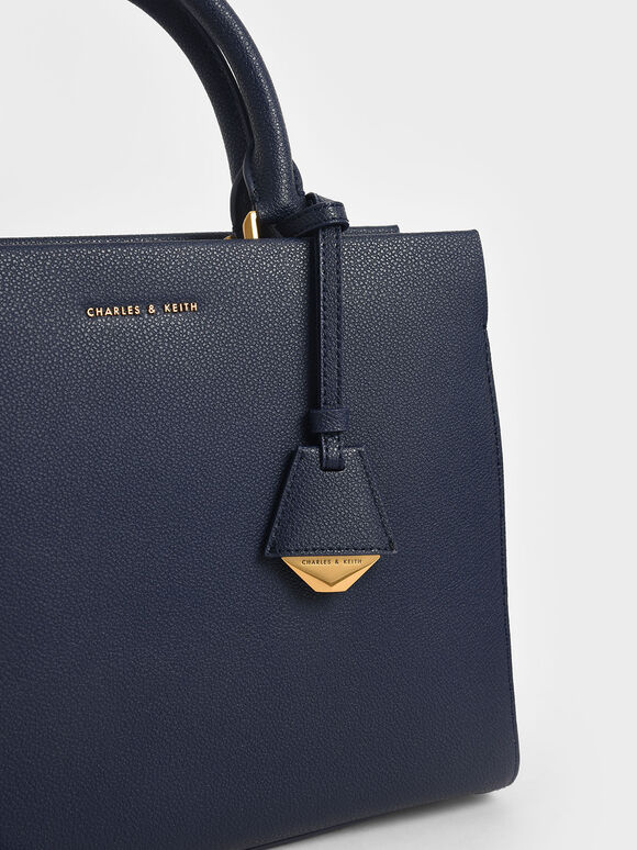 Large Double Handle Bag, Navy, hi-res