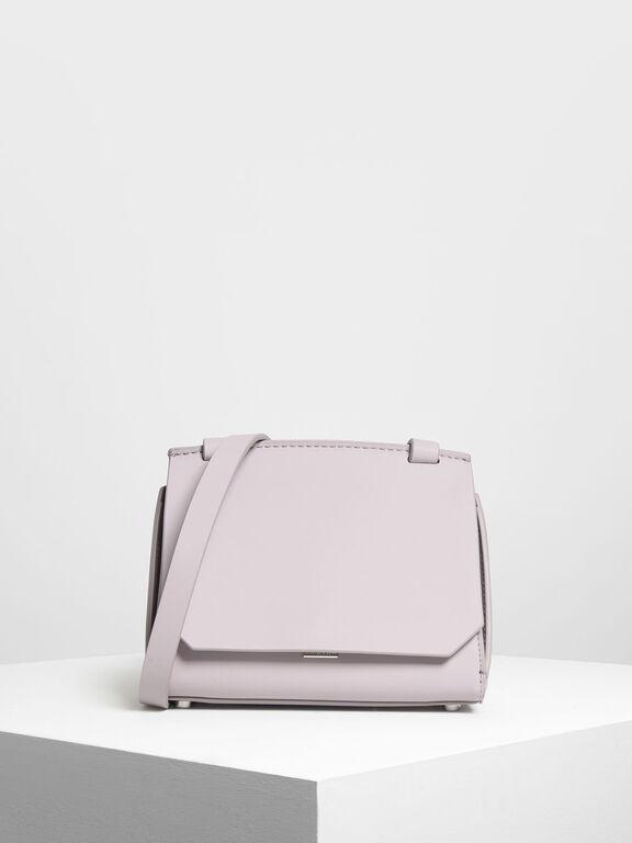 Front Flap Crossbody Bag, Lilac