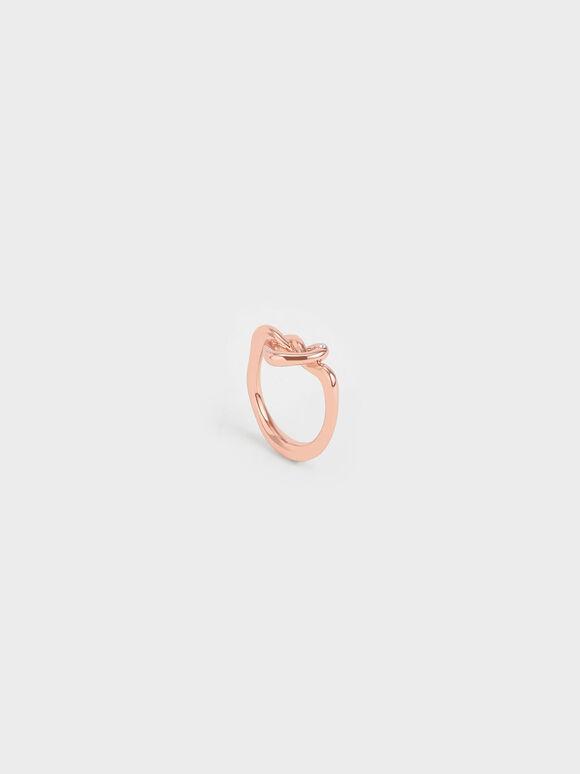 Swarovski® Crystal Embellished Heart Ring, Rose Gold, hi-res