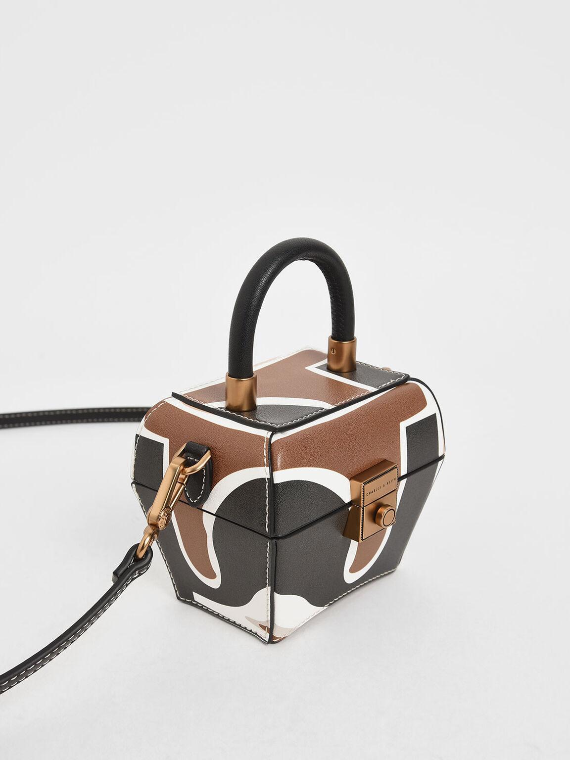 Printed Mini Sculptural Bag, Multi, hi-res