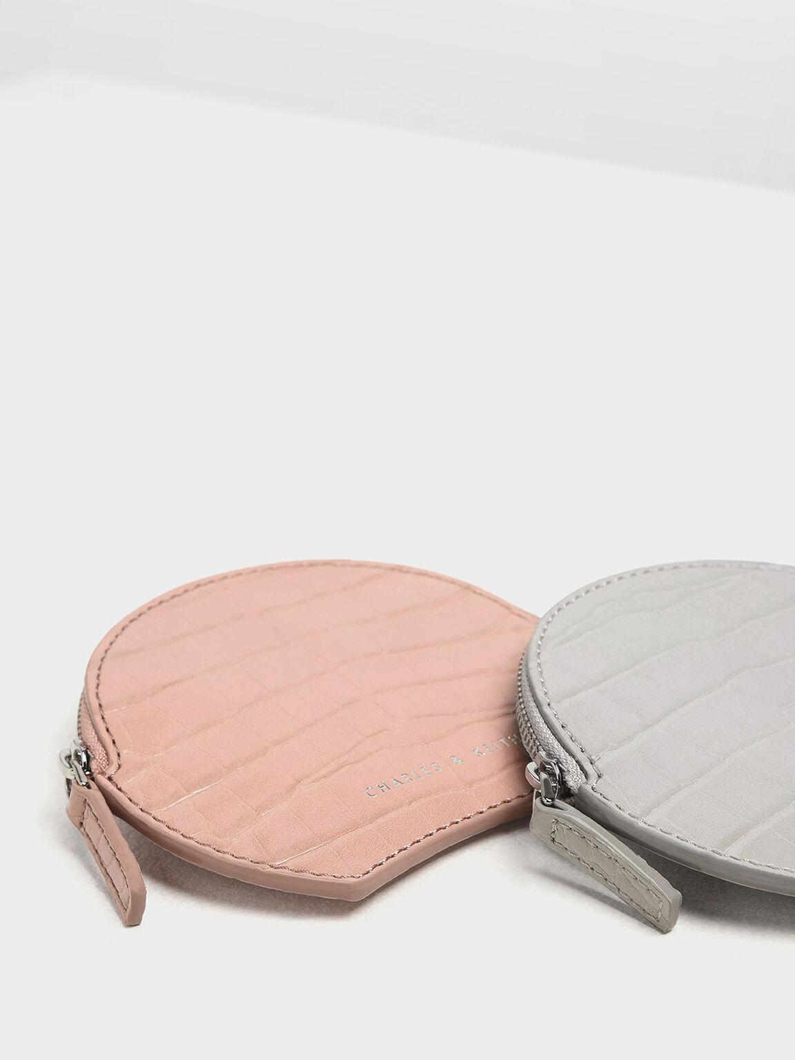 鱷魚紋零錢包, 粉紅色, hi-res