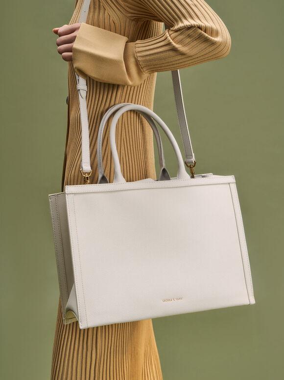 Charlot Tote Bag, Cream, hi-res