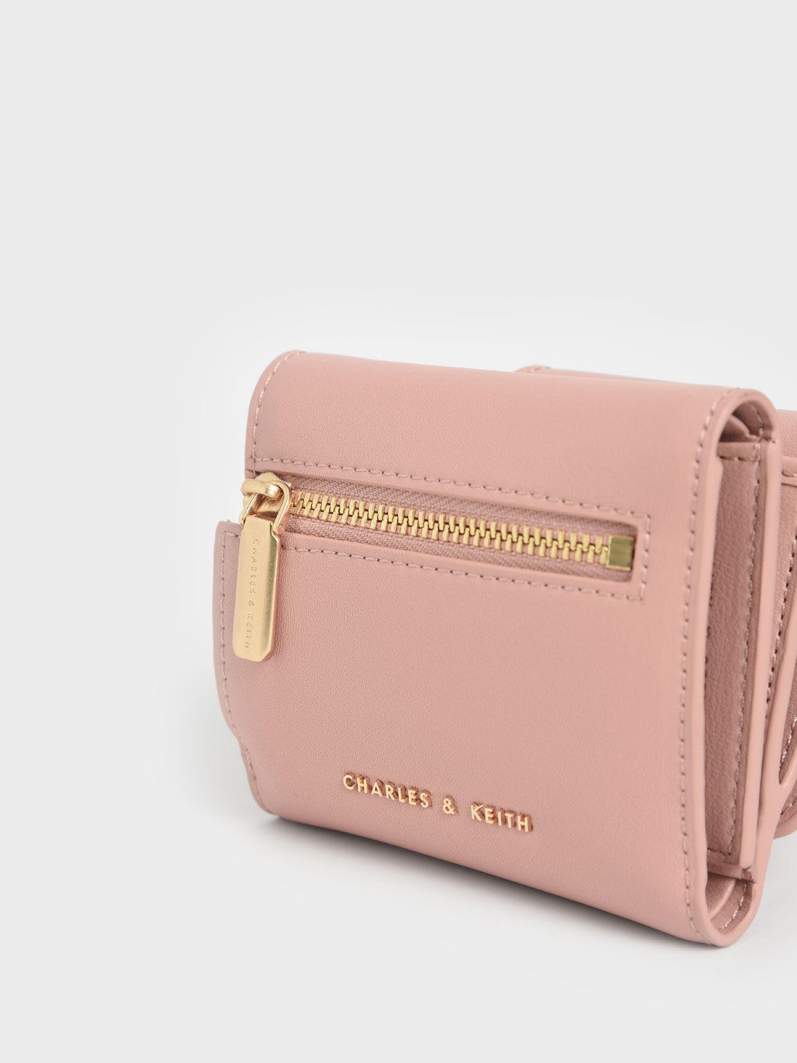 Chain Handle Short Wallet, Blush, hi-res