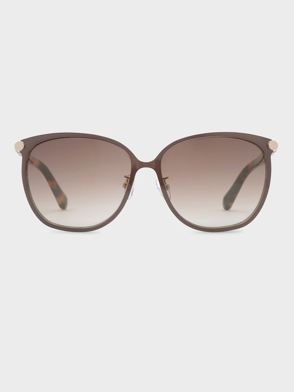 Oversized Sunglasses, Brown, hi-res