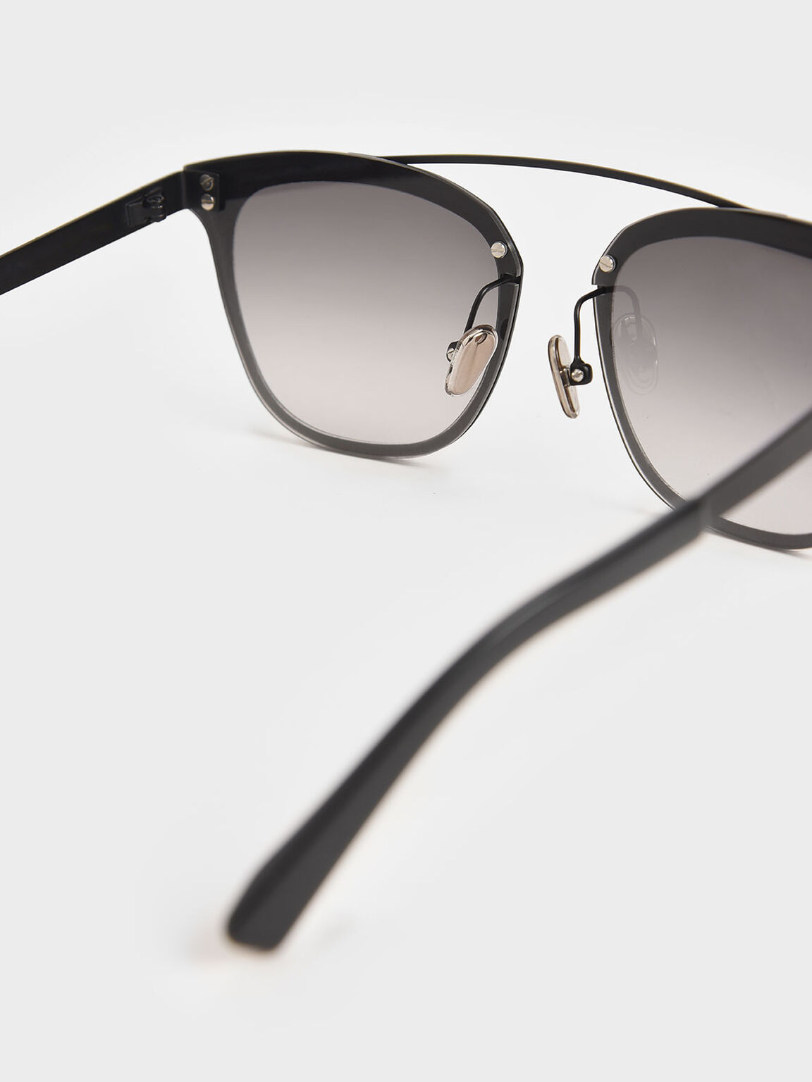 Metal Frame Sunglasses, Black, hi-res