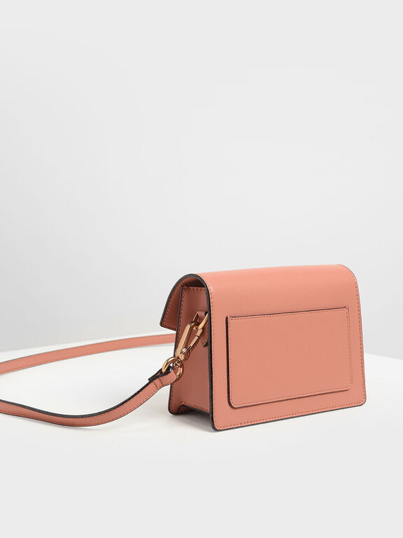Front Flap Crossbody Bag, Clay