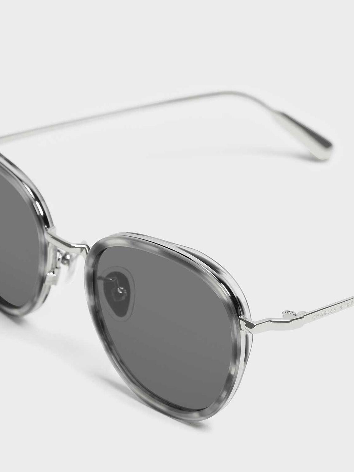 Semi-Precious Stone Sunglasses, Grey, hi-res