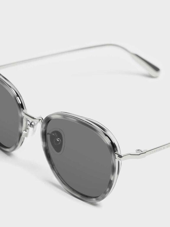 Semi-Precious Stone Sunglasses, Grey