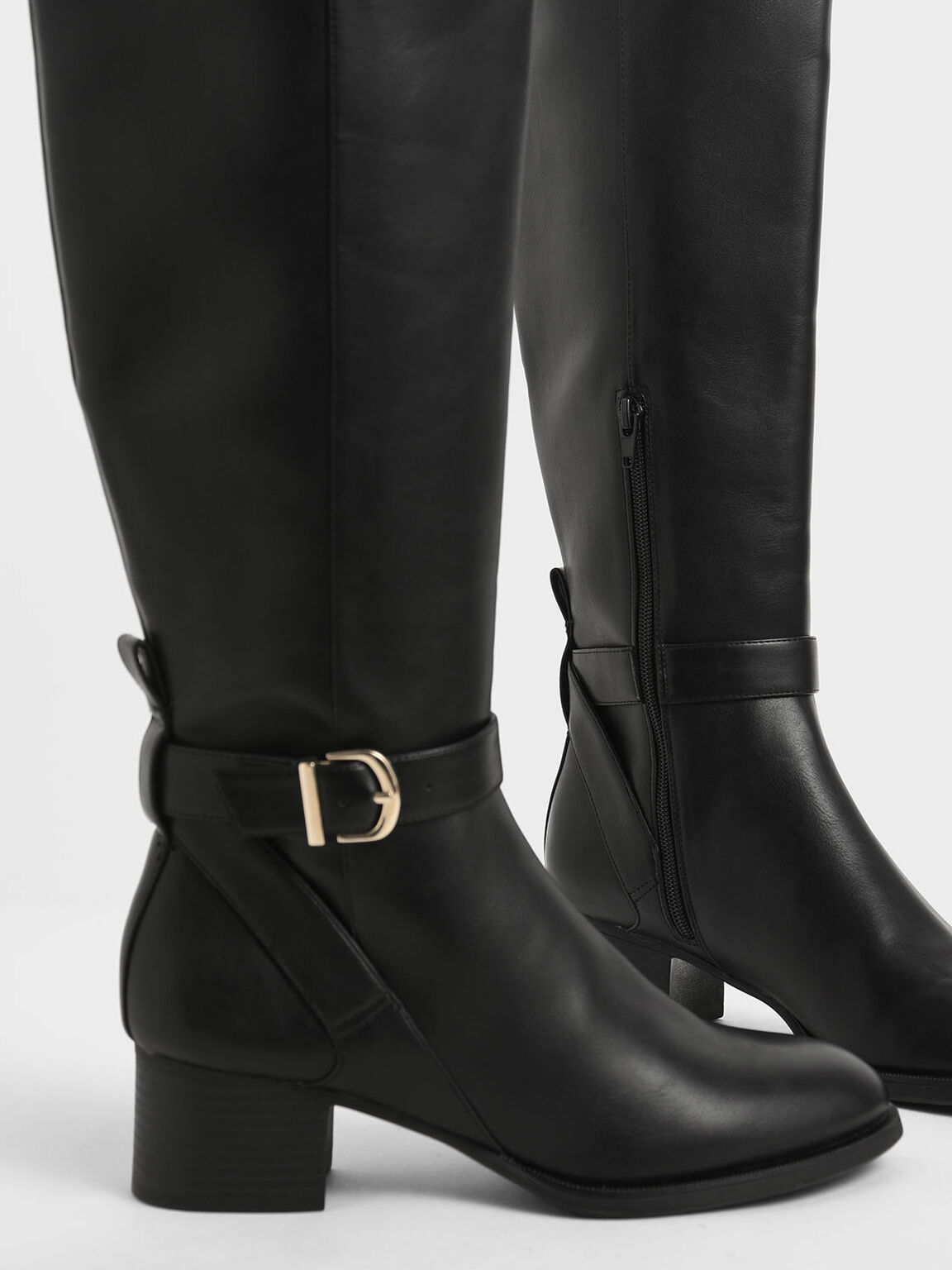 Riding Boots, Black, hi-res