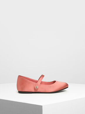 Kids' Classic Mary Janes, Coral Pink