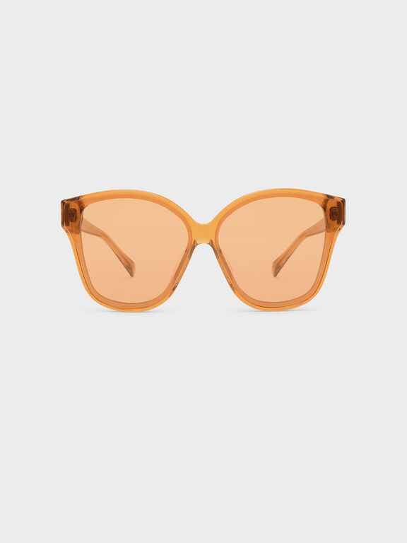 Acetate Frame Sunglasses, Orange