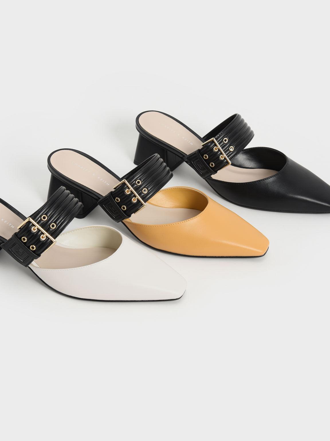 瑪莉珍方釦粗跟鞋, 石灰白, hi-res