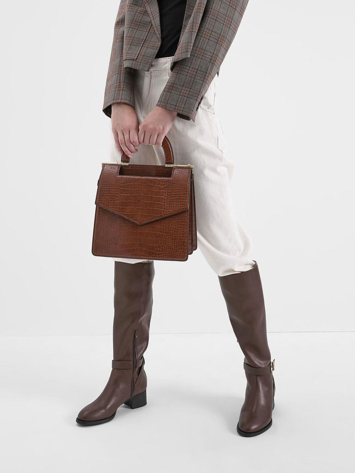 Riding Boots, Brown, hi-res