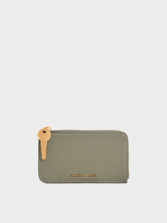 Zip Around Mini Wallet, Sage Green, hi-res