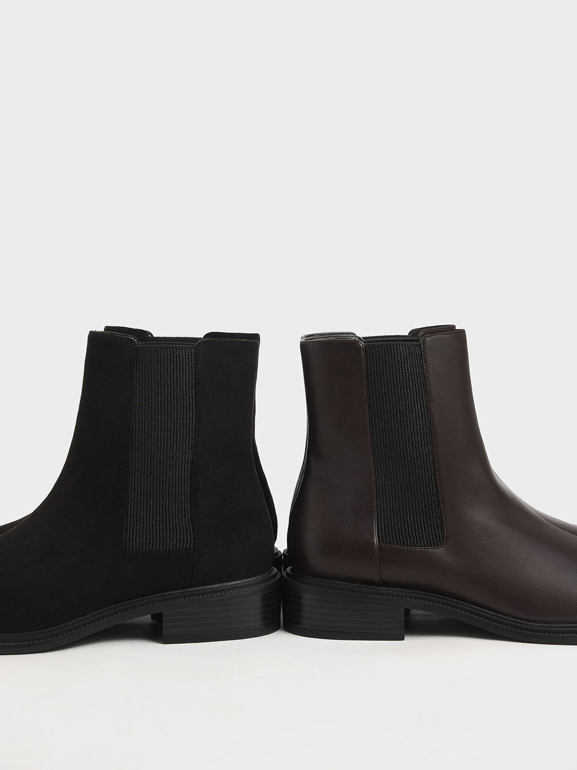 粗跟切爾西短靴, 深咖啡, hi-res