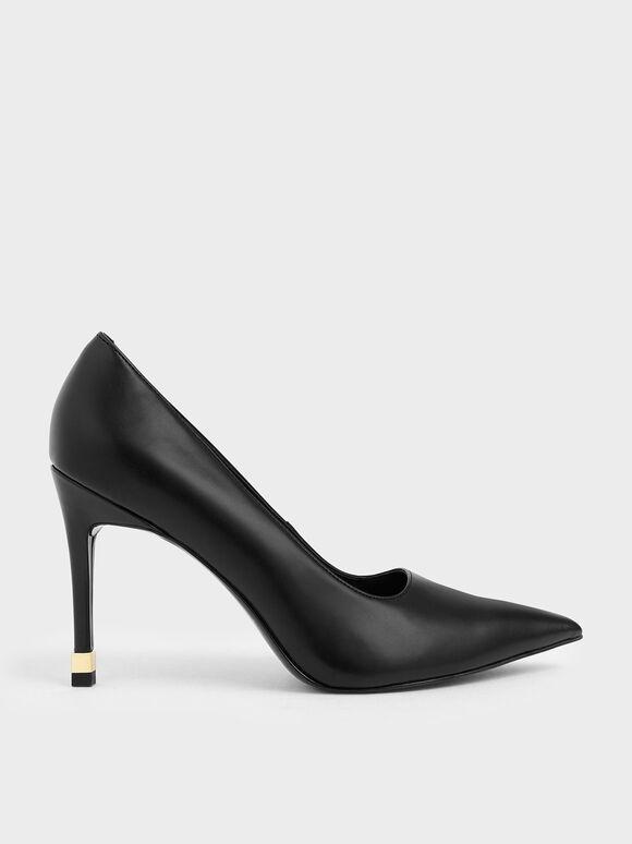 Stiletto Pumps, Black, hi-res