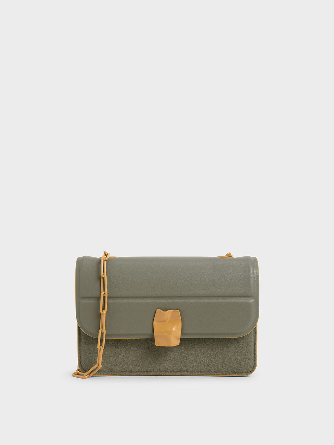 Textured Mini Wallet, Sage Green, hi-res