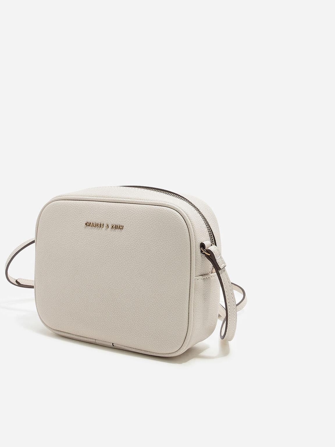 Curved Boxy Sling Bag, Ivory, hi-res