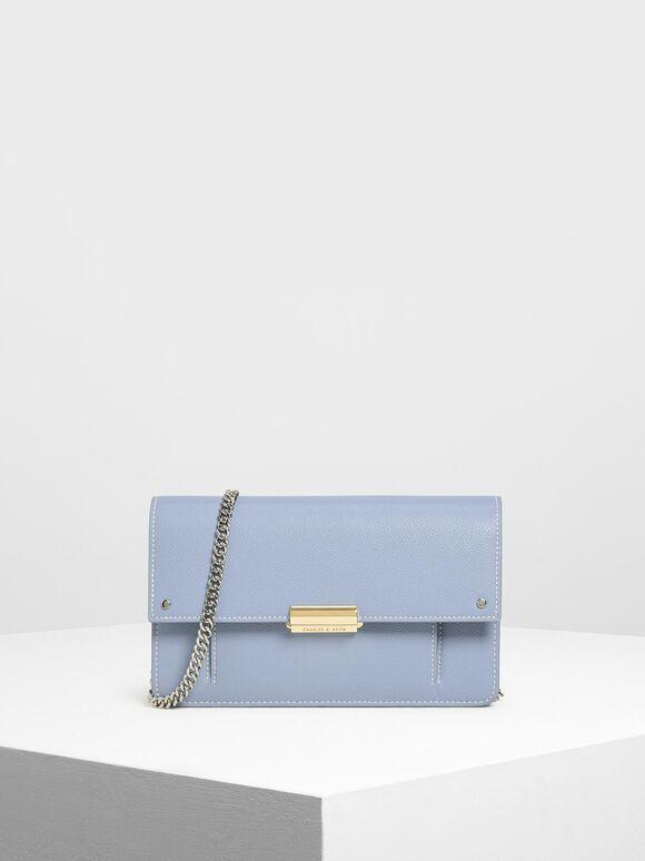 Chain Wallet, Blue, hi-res