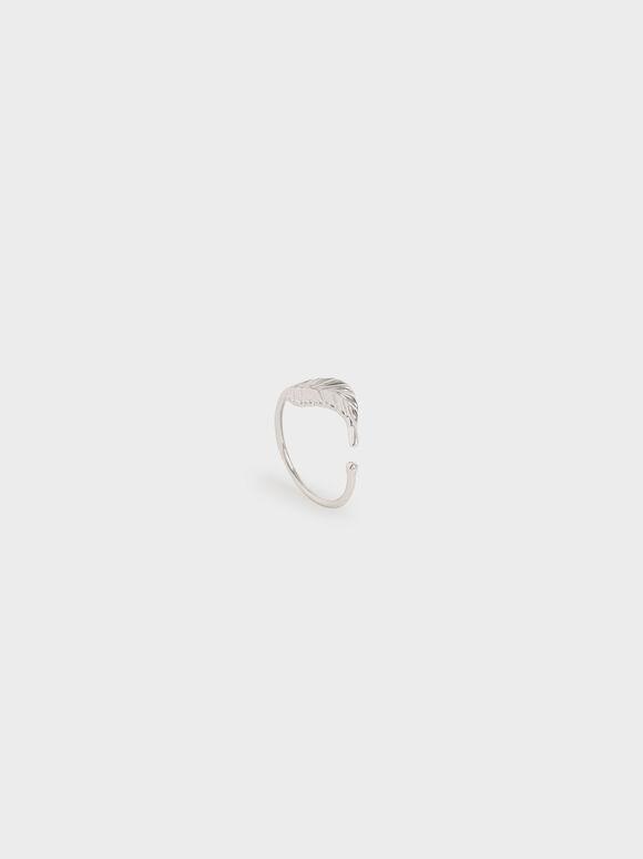 Leaf Band Ring, Silver, hi-res