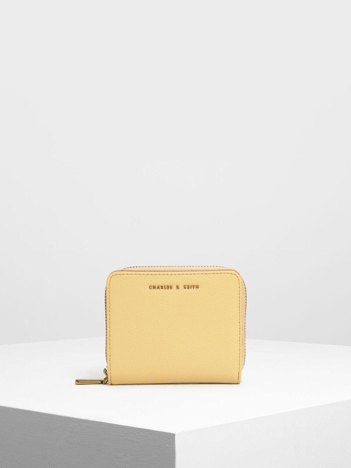 Classic Zip Mini Wallet, Yellow, hi-res