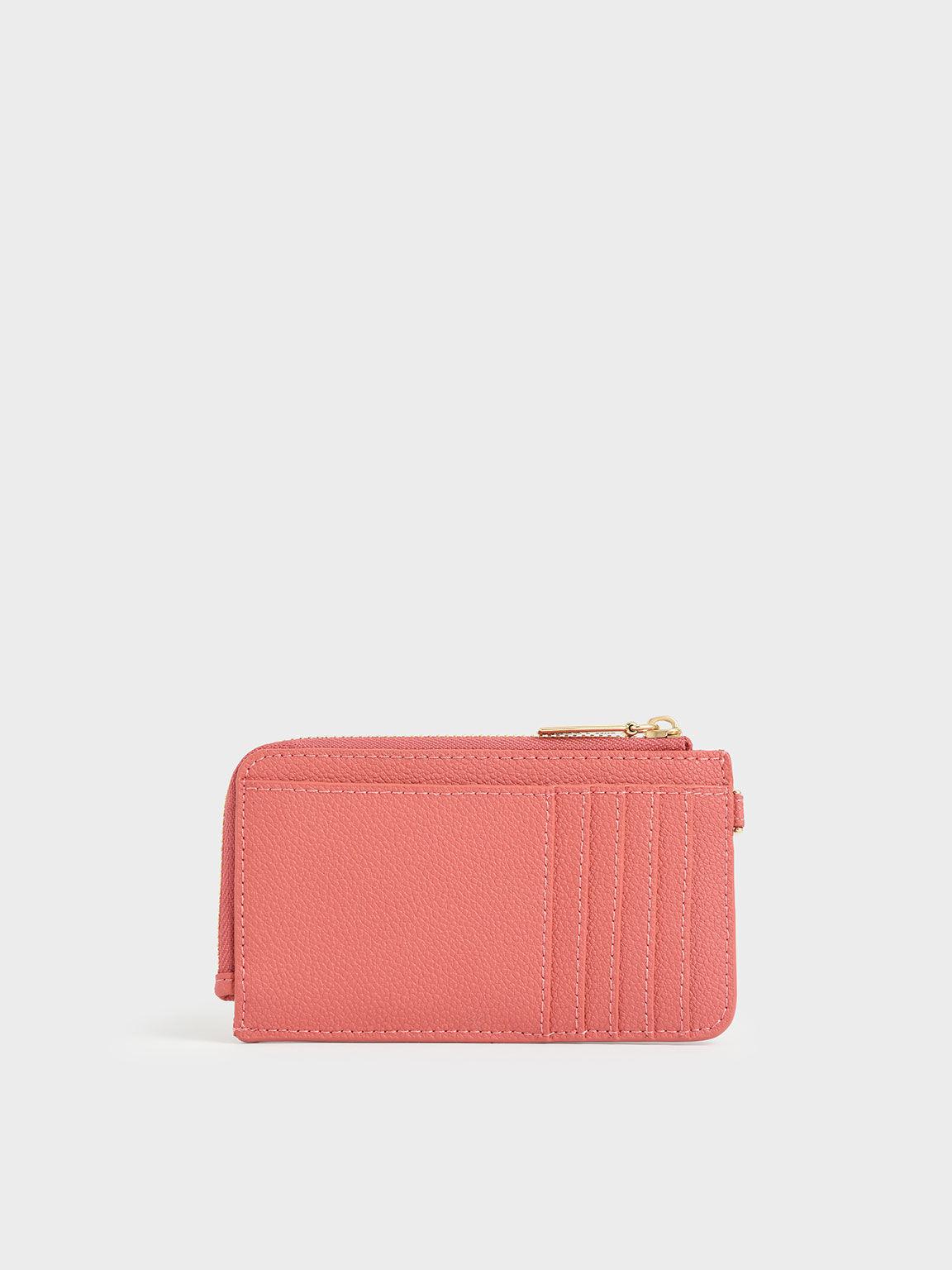 Multi-Slot Wristlet Card Holder, Coral, hi-res