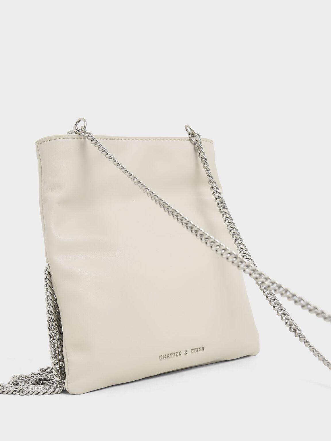 Chain Fringe Mini Crossbody Bag, Cream, hi-res