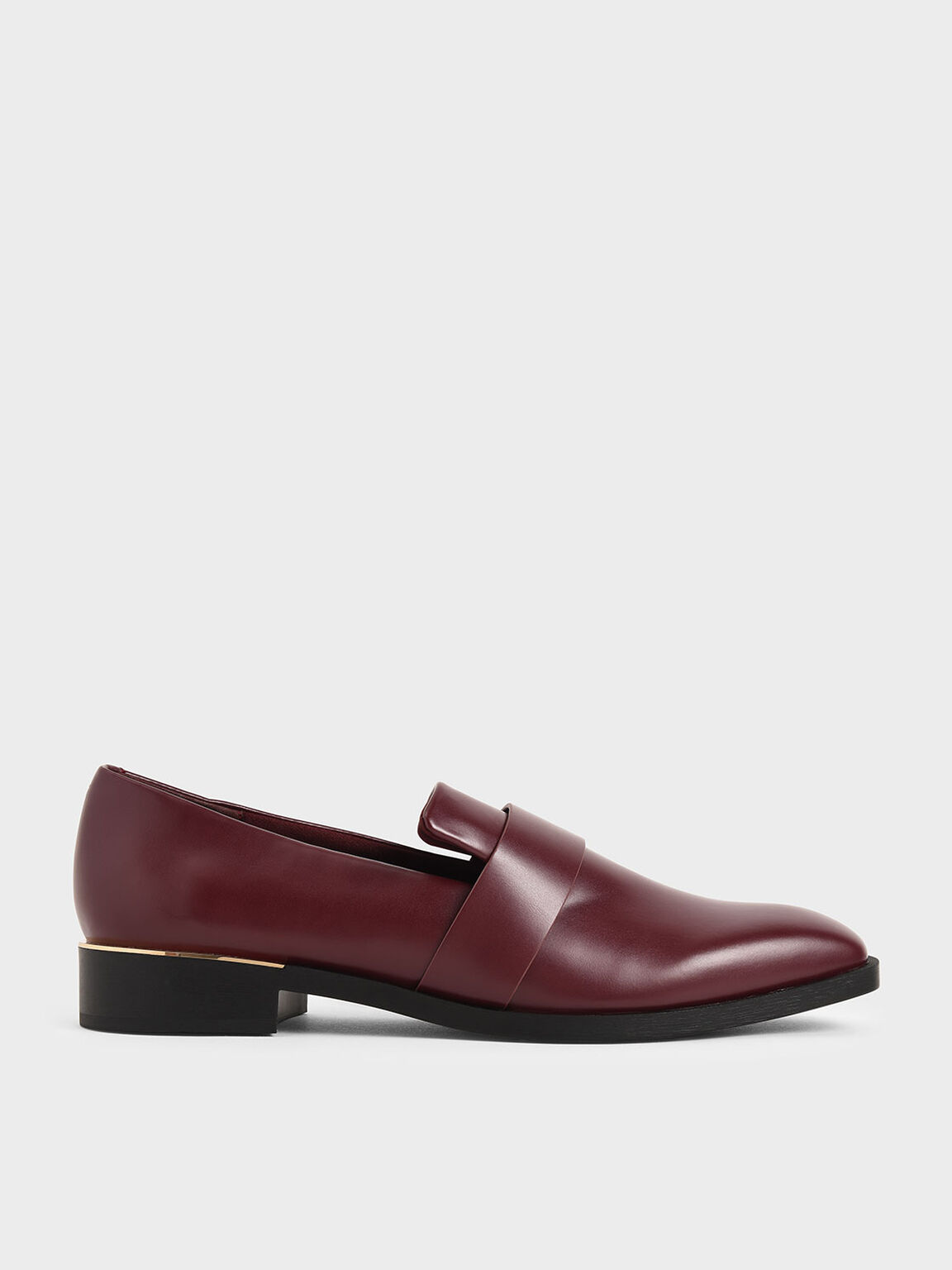 Square Toe Penny Loafers, Burgundy, hi-res