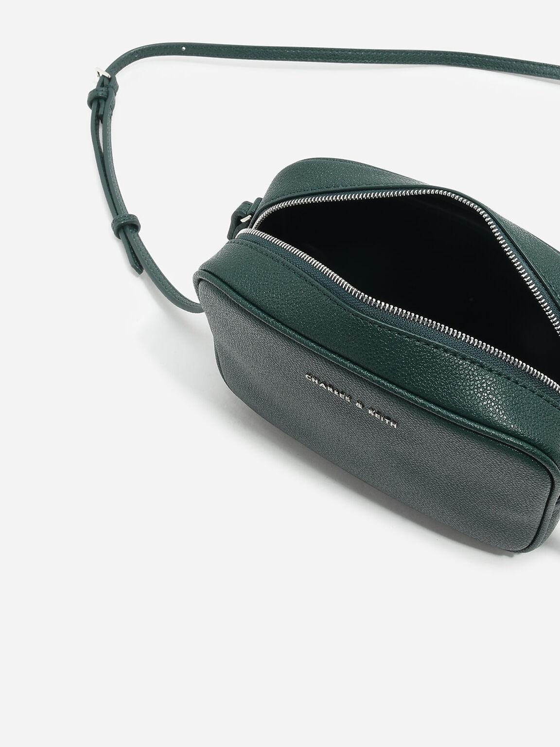 Rectangular Sling Bag, Green, hi-res