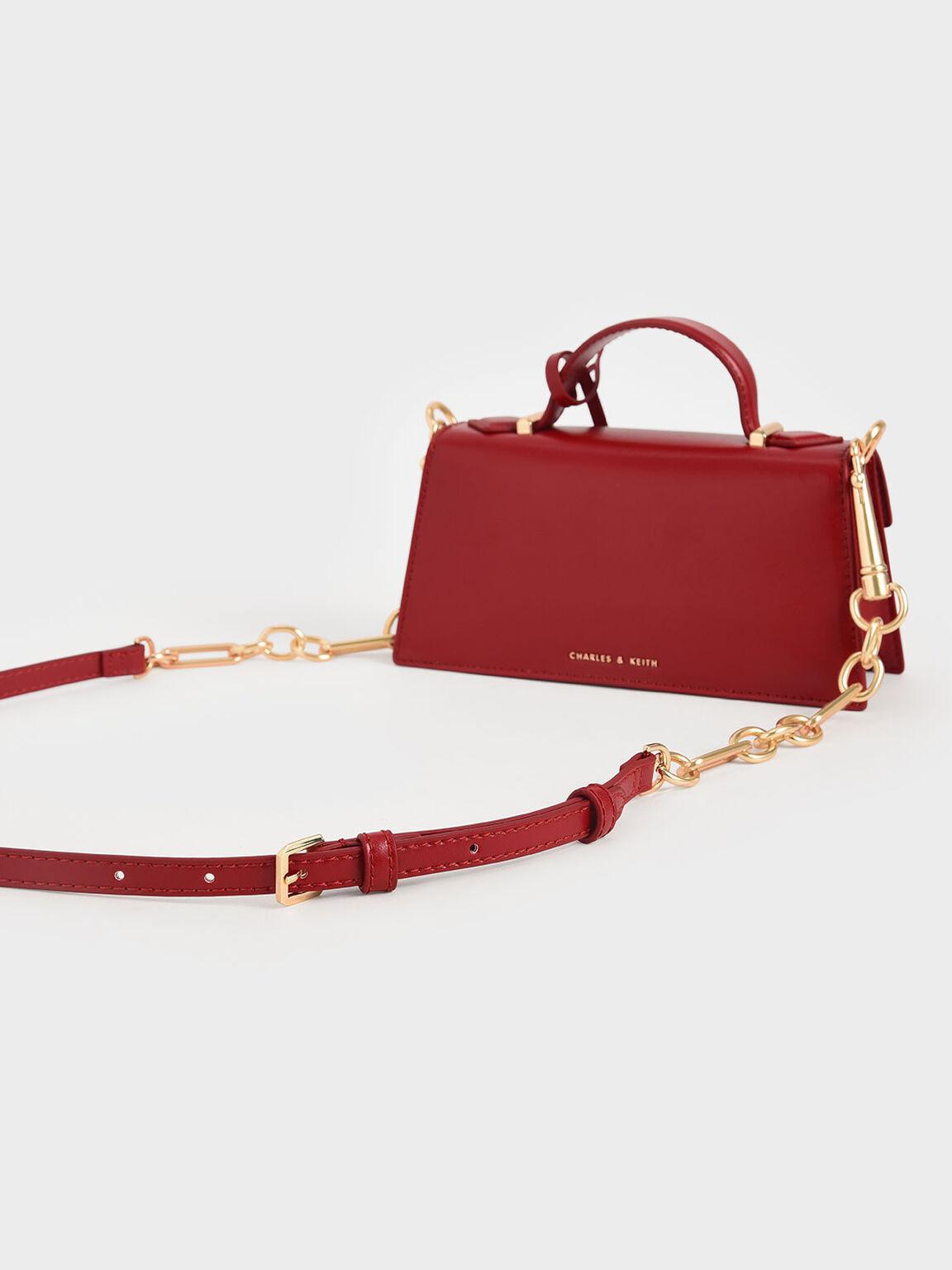 Trapeze Top Handle Bag, Red, hi-res