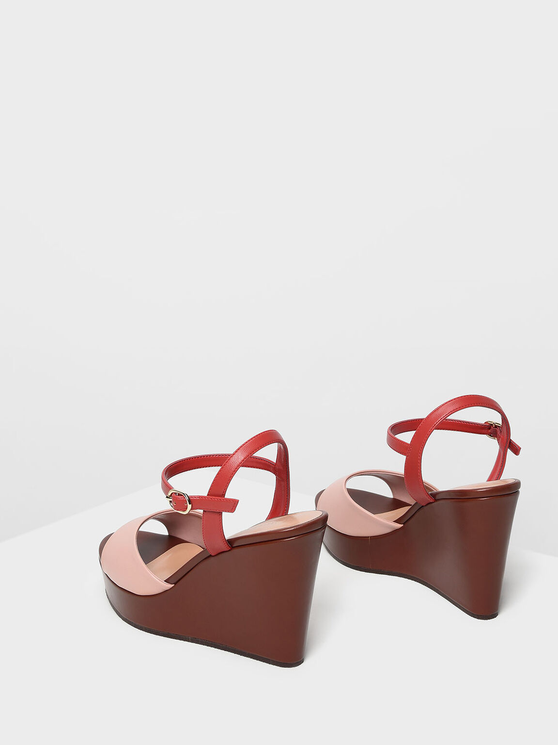 Ankle Strap Wedges, Multi, hi-res