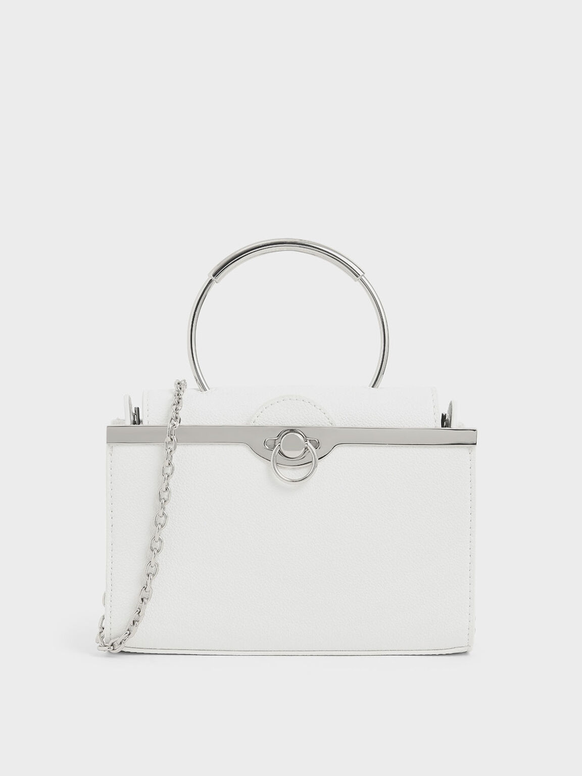 Bracelet Clutch, White, hi-res