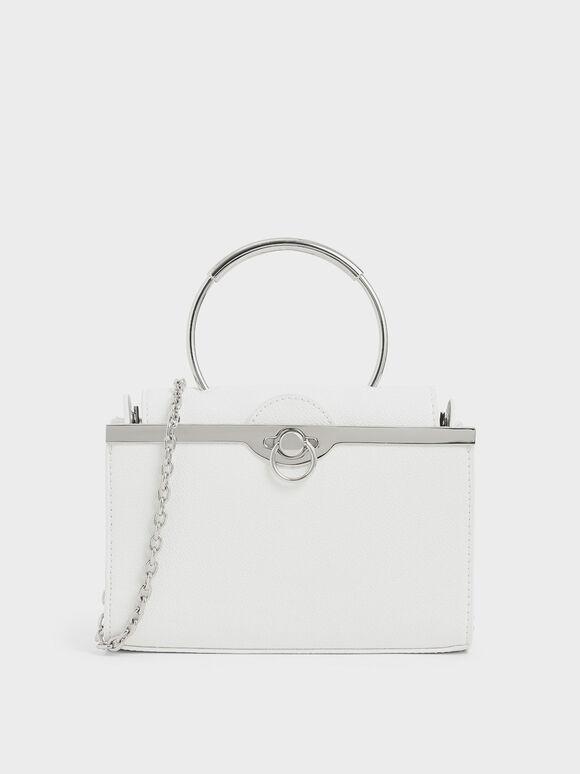 Bracelet Clutch, White, hi-res