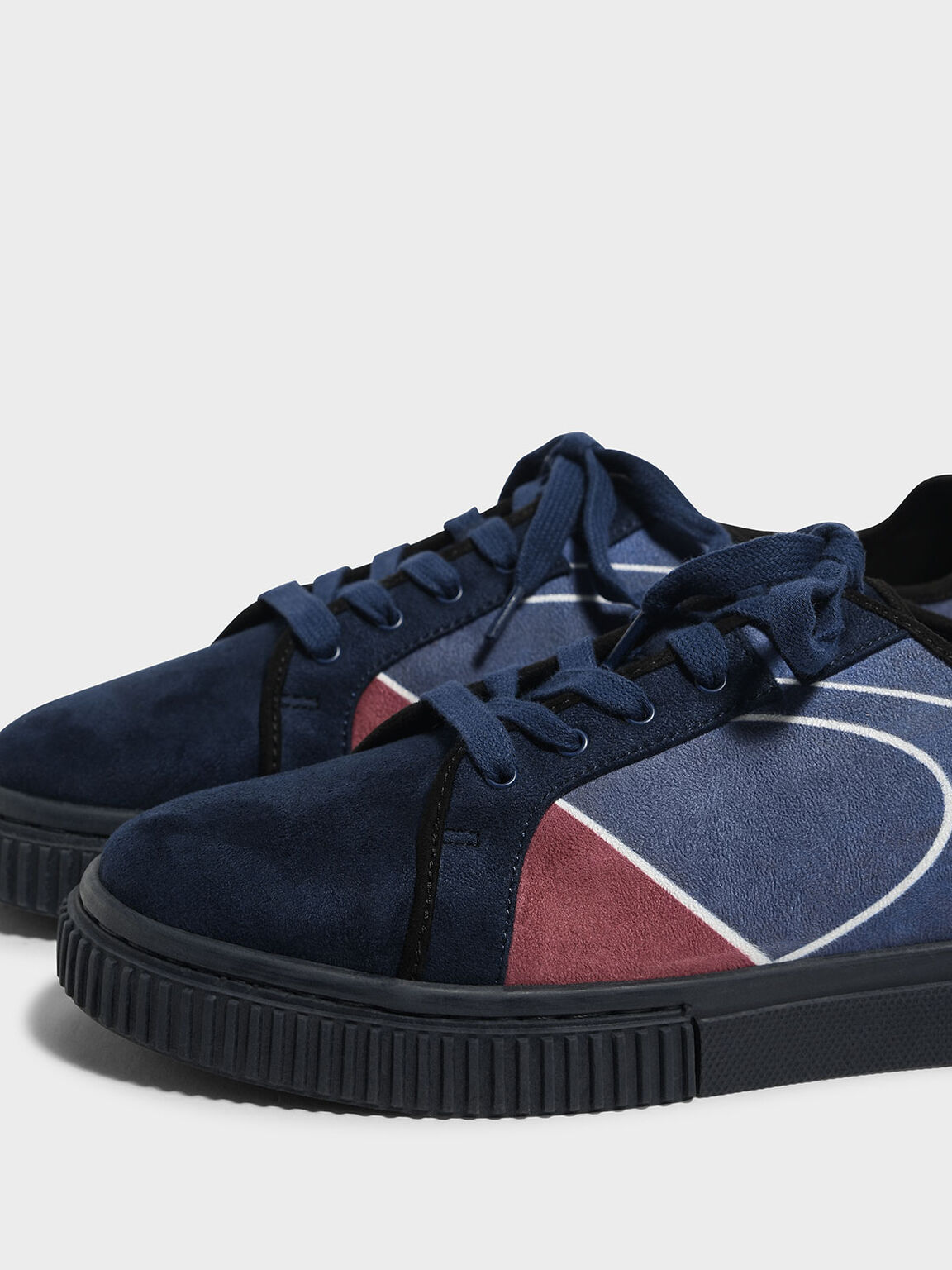 Classic Lace Up Sneakers, Dark Blue, hi-res