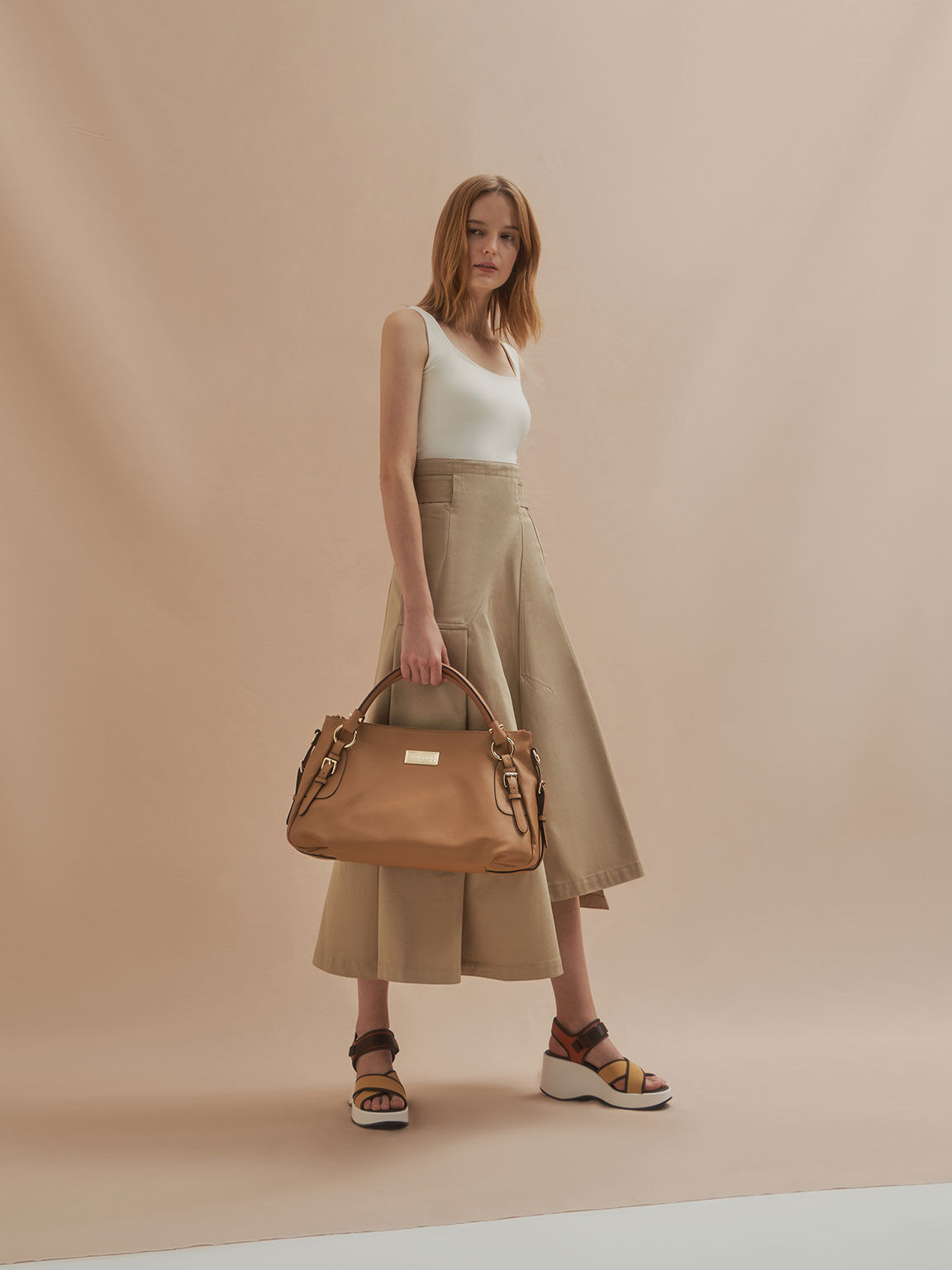 Slouchy Bag, Nude, hi-res