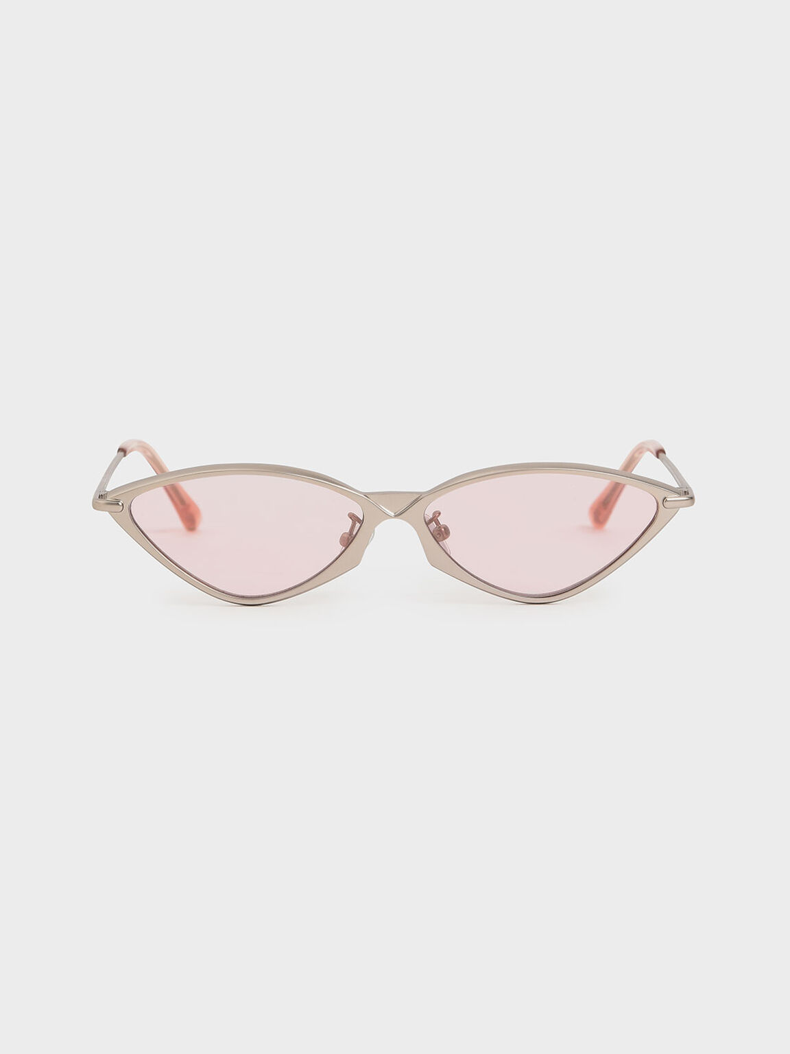 Metal Frame Cat-Eye Sunglasses, Pink, hi-res