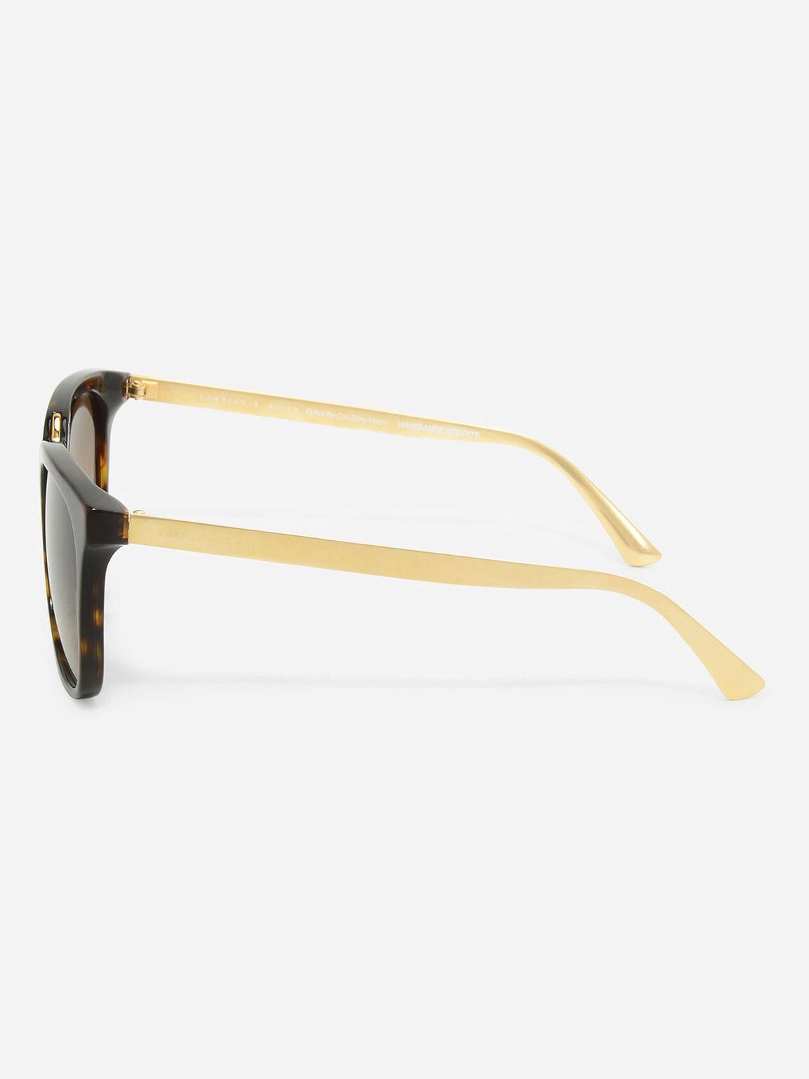 Acetate Frame Wayfarer Sunglasses, T. Shell, hi-res