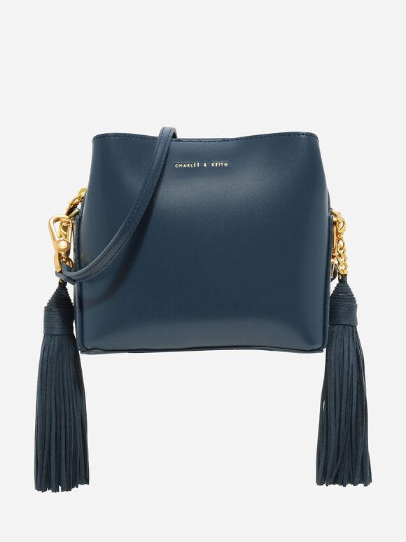 Tassel Sling Bag, Ocean, hi-res